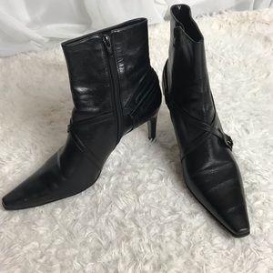 Gianni Bini Black Leather High Heel Bootie